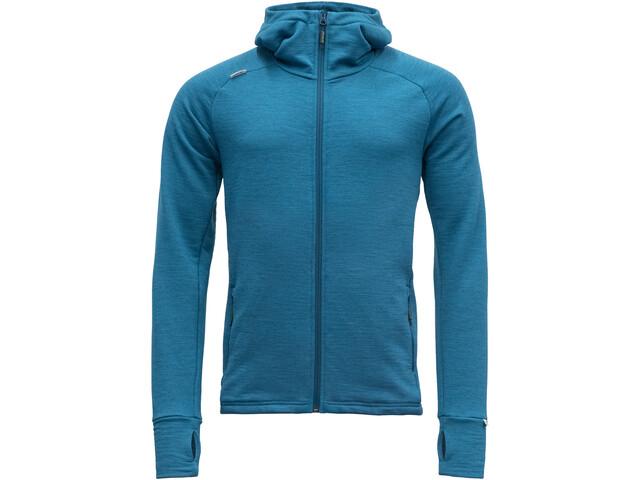 Devold Nibba Hooded Jacket Men, blue melange